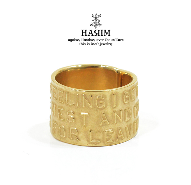 HARIM HRR037GP Stairway to Heaven Wide Ring