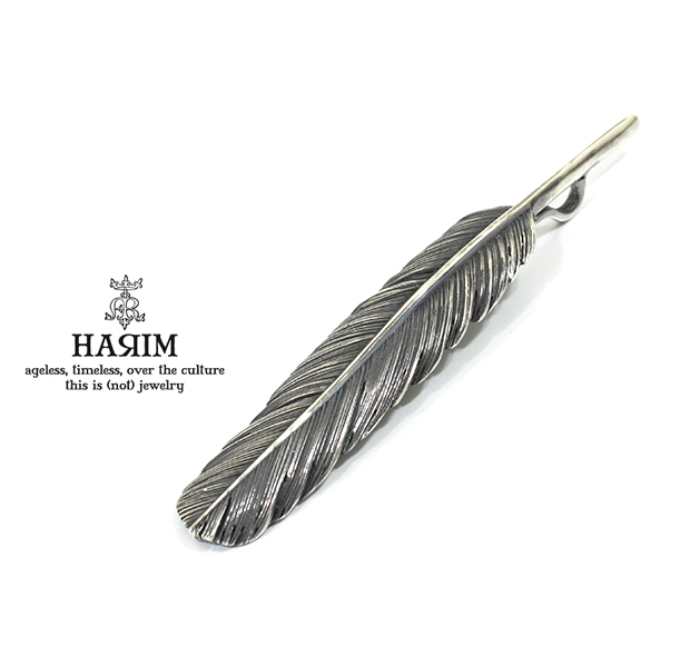 HARIM HRT001 BK Feather Pendant /L 【CENTER】