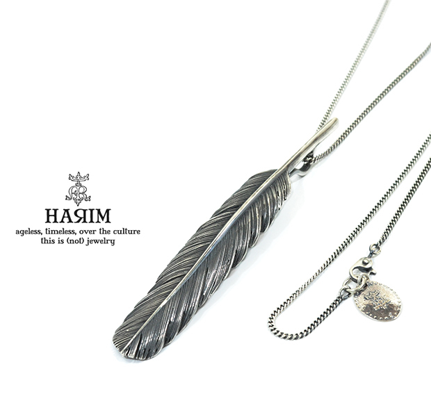HARIM HRT001BK Feather Necklace /L 【CENTER】