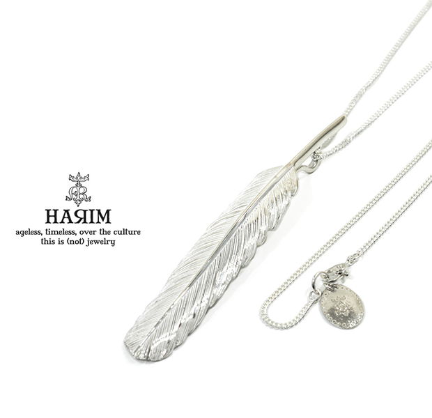 HARIM HRT001WH Feather Necklace /L 【CENTER】