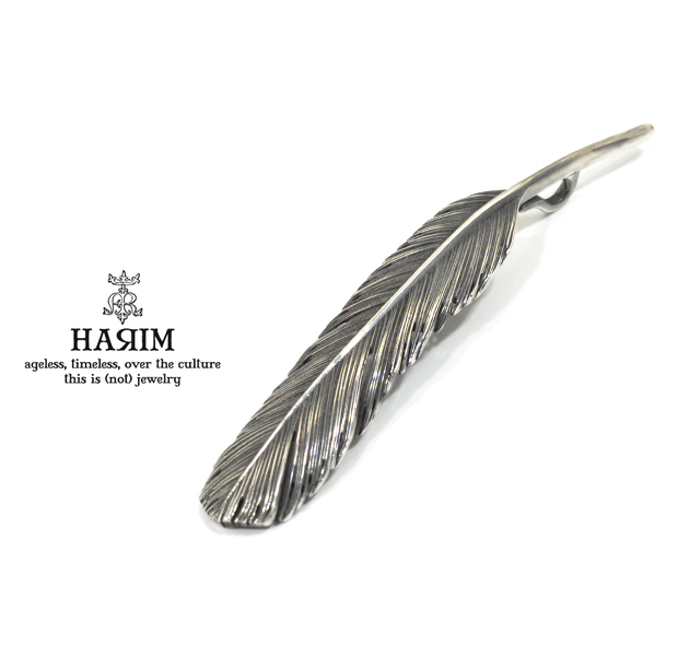 HARIM HRT002BK Feather Pendant /L 【LEFT】