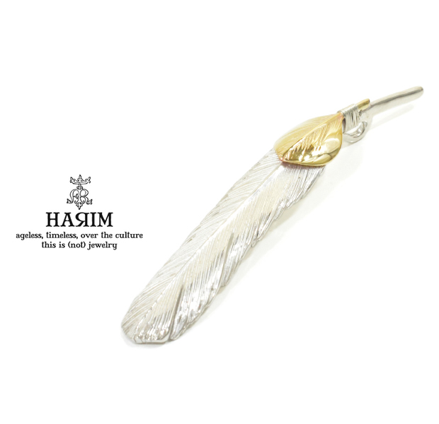 HARIM HRT002WH Feather Pendant /L 【LEFT】 K10YG Custom