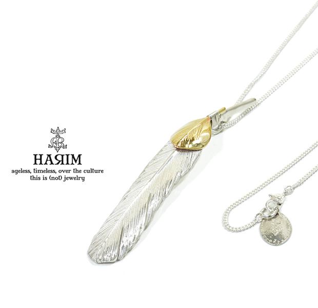 HARIM HRT002WH Feather Necklace /L 【LEFT】 K10YG Custom