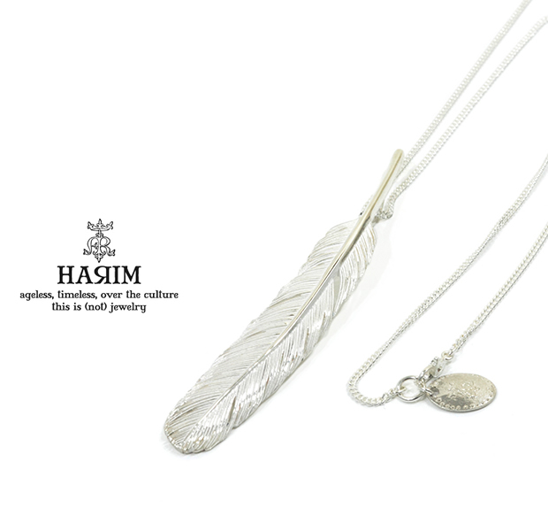 HARIM HRT003WH Feather Necklace /L 【RIGHT】