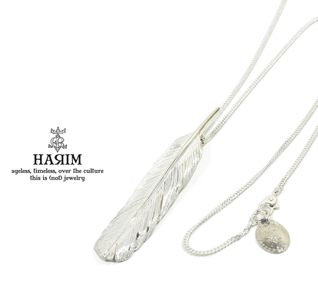 HARIM HRT004WH Feather Necklace /M 【CENTER】
