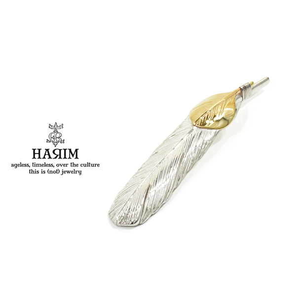HARIM HRT005 Feather Pendant /M 【LEFT】 K10YG Custom