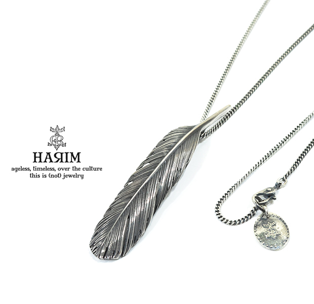 HARIM HRT005BK Feather Necklace /M 【LEFT】
