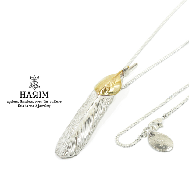HARIM HRT005 Feather Necklace /M 【LEFT】 K10YG Custom