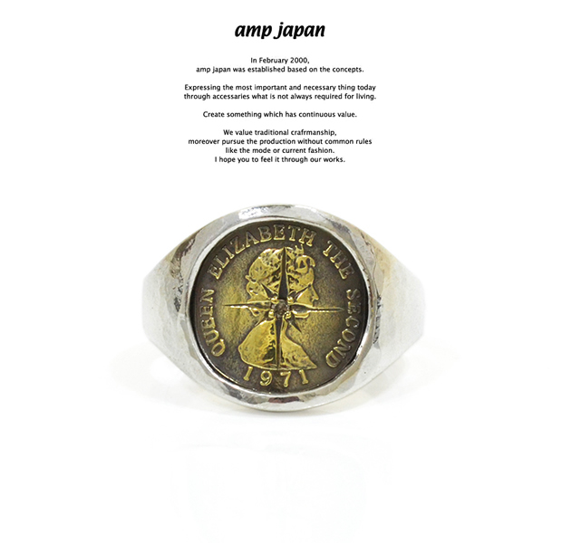 amp japan 16AO-245 Small Elizabeth Coin With Diamond Ring
