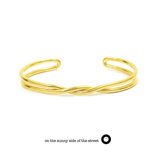 on the sunny side of the street 610-265 Gold Twist Bangle【NEW ITEM】