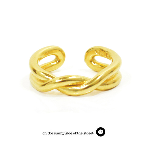on the sunny side of the street 610-267 Gold Twist Ring【NEW ITEM】