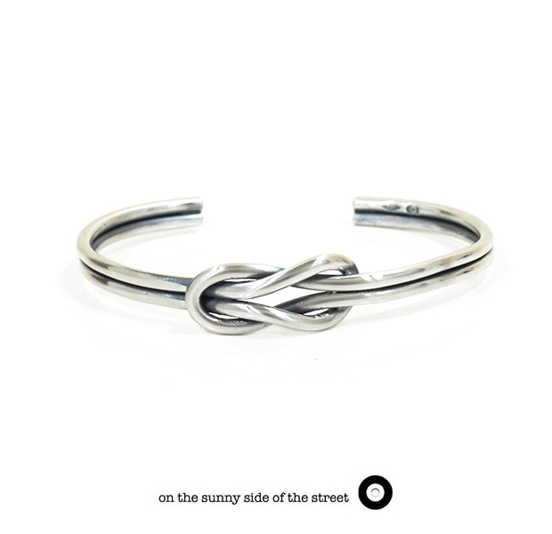 on the sunny side of the street 610-269 Silver Sailor Knot Bangle【NEW ITEM】