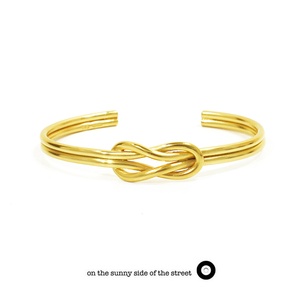 on the sunny side of the street 610-269 Gold Sailor Knot Bangle【NEW ITEM】
