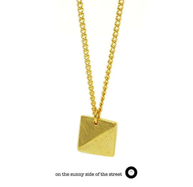 on the sunny side of the street 610-282 Gold African Studs Long Necklace【NEW ITEM】