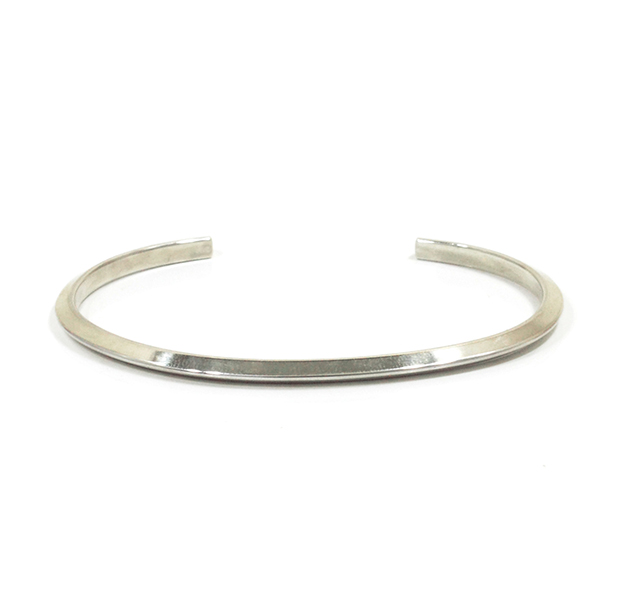 "UNKNOWN. U222 "" SLOPE "" 3mm BANGLE / SILVER"