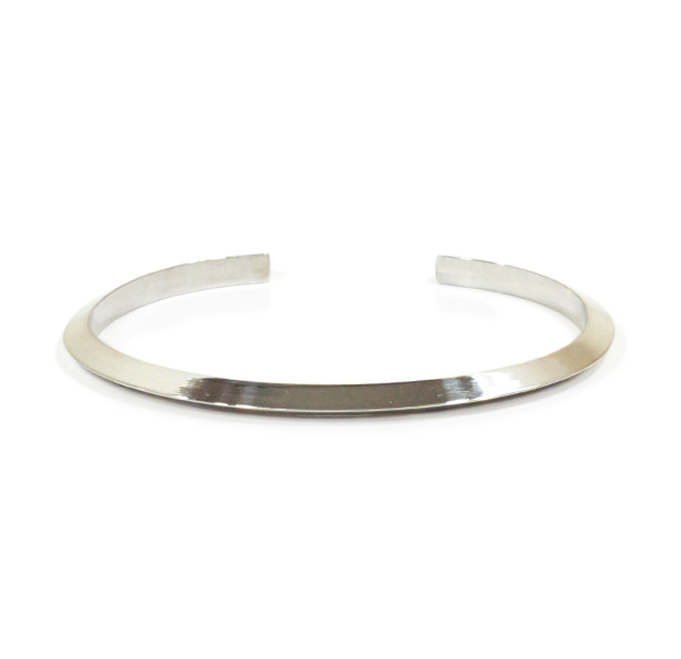 "UNKNOWN. U223 "" SLOPE "" 4mm BANGLE / SILVER"