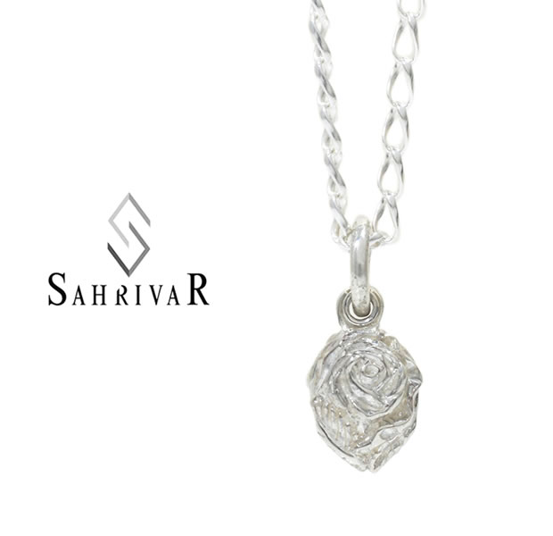 SAHRIVAR SN119S17S  Silver Rose Necklace