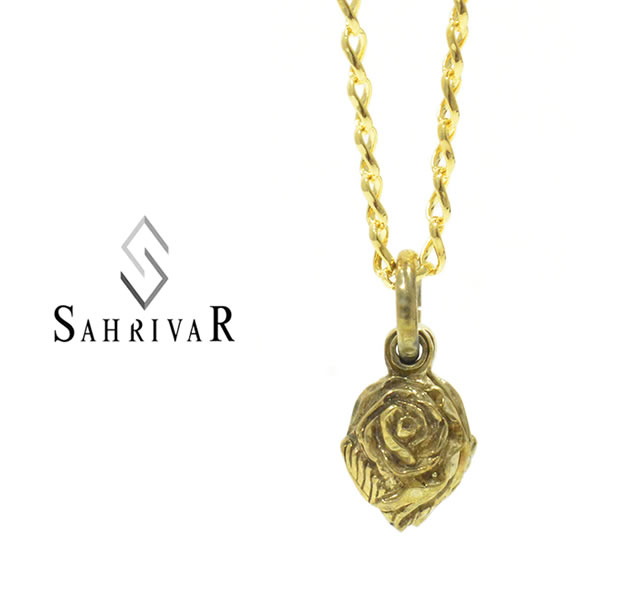 SAHRIVAR SN120B17S  Brass Rose Necklace