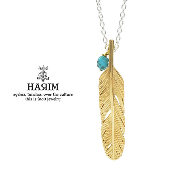 HARIM HRP120 GP Feather Necklace /S 【CENTER】