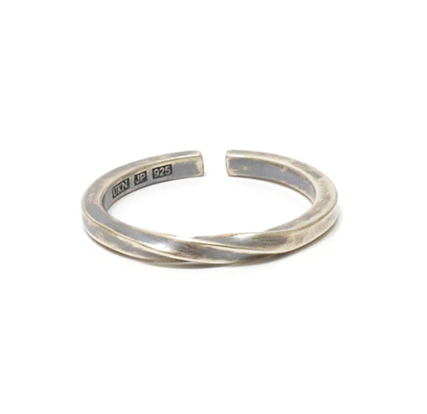 "UNKNOWN. U034 ""TWIST2"" RING / SILVER"