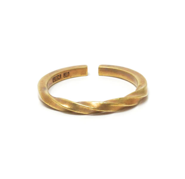 "UNKNOWN. U035 ""TWIST2"" RING / BRASS"