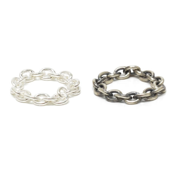 "UNKNOWN. U037 "" CHAIN2 "" S RING / SILVER"
