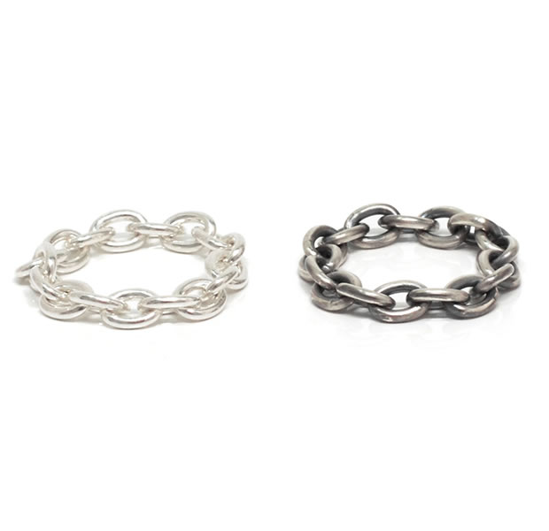 "UNKNOWN. U038 "" CHAIN2 "" M RING / SILVER"