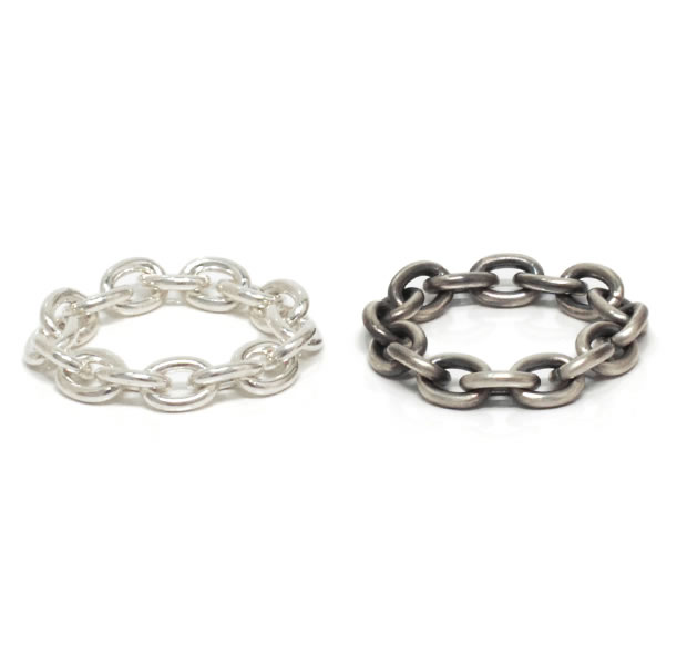 "UNKNOWN. U039 "" CHAIN2 "" L RING / SILVER"