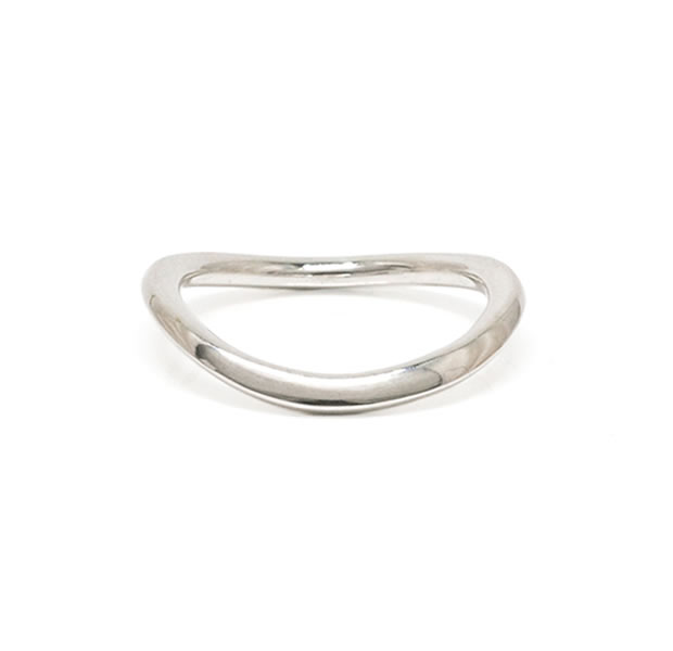 "UNKNOWN. U501 "" FLOWING "" RING / SILVER"