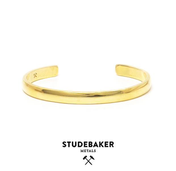 STUDEBAKER METALS LODGE CUFF BRASS HI POLISH