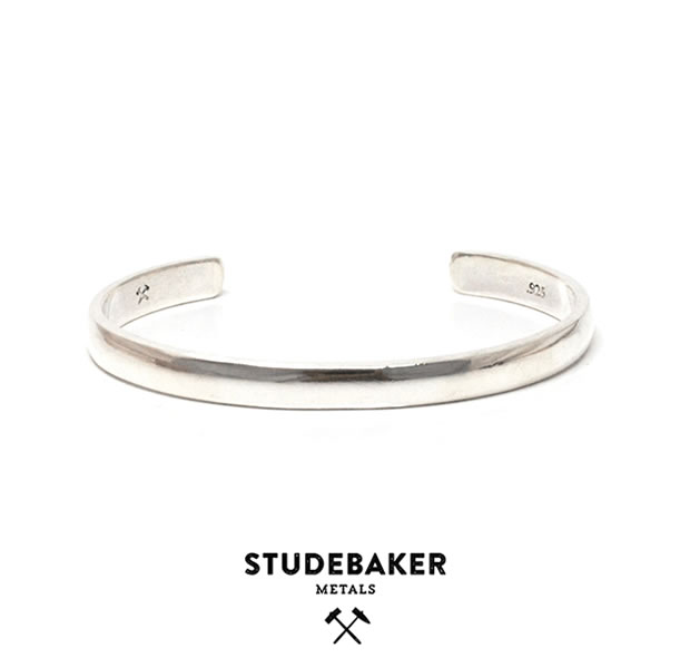 STUDEBAKER METALS LODGE CUFF SILVER HI POLISH