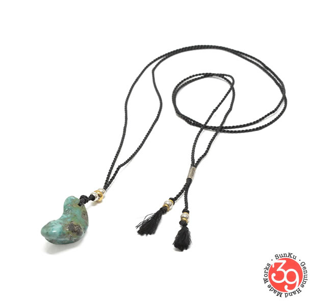 Sunku SK-221 TURQUOISE SILK ROPE NECKLACE