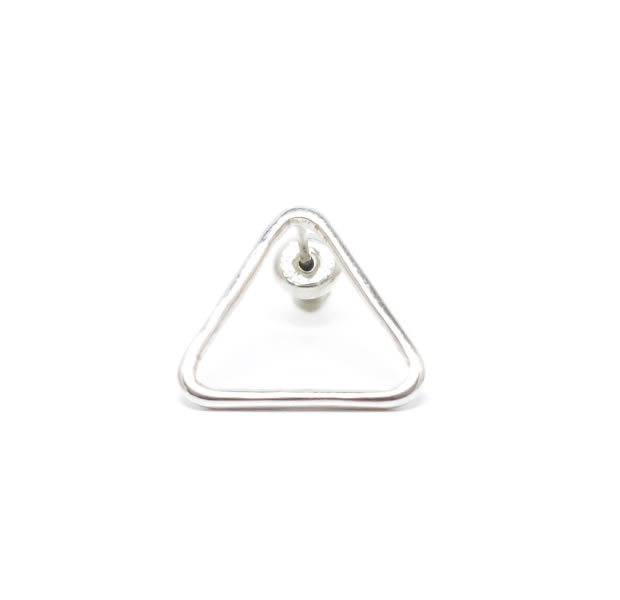 "UNKNOWN. U323 "" THIN TRIANGLE "" PIERCE / SILVER"