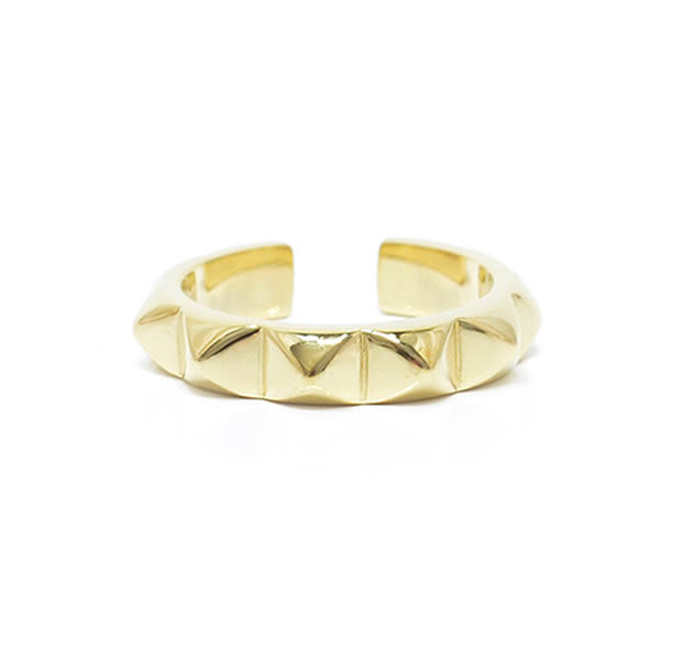 "UNKNOWN. U044 "" STUDS3 "" RING / BRASS"
