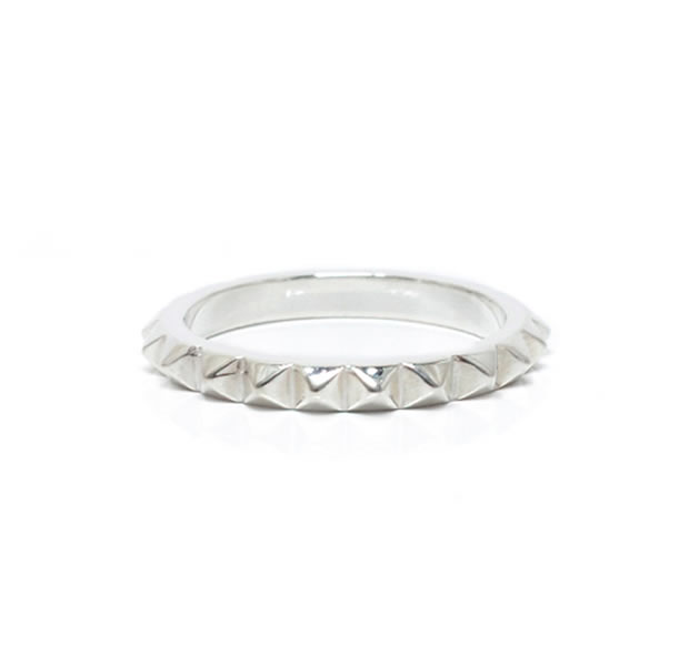"UNKNOWN. U516 "" STUDS2 "" RING / SILVER"