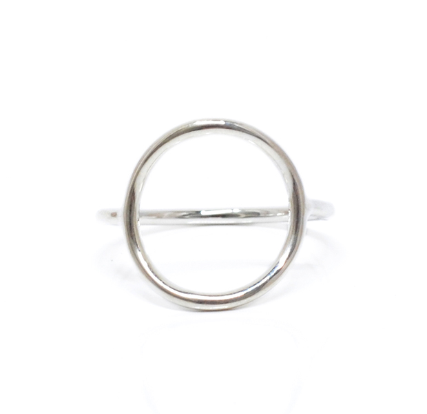 "UNKNOWN. U517 "" THIN CIRCLE "" RING / SILVER"