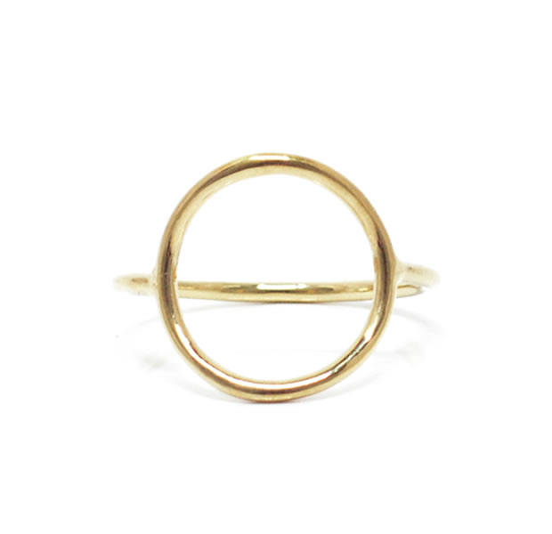 "UNKNOWN. U517 "" THIN CIRCLE "" RING / BRASS"