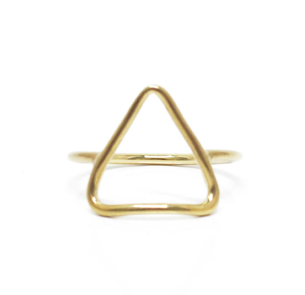 "UNKNOWN. U518 "" THIN TRIANGLE "" RING / BRASS"