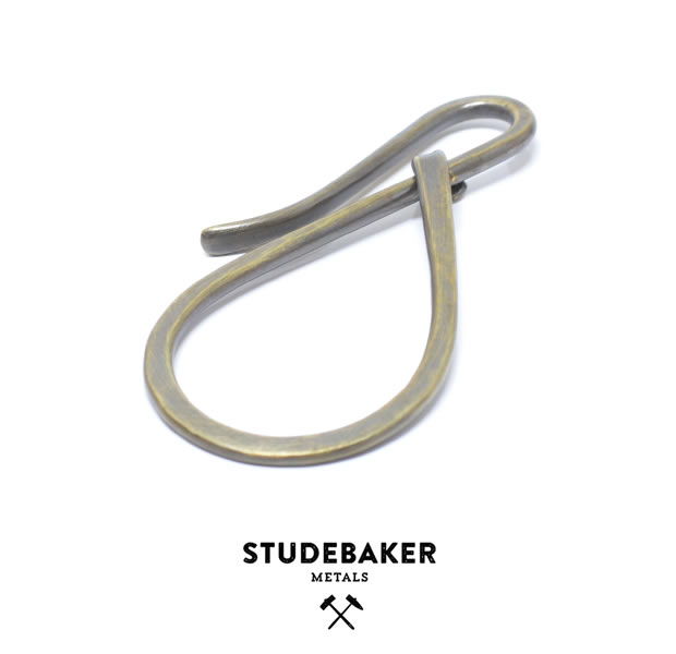 STUDEBAKER METALS WORKSHOP KEY HOLDER / BRASS