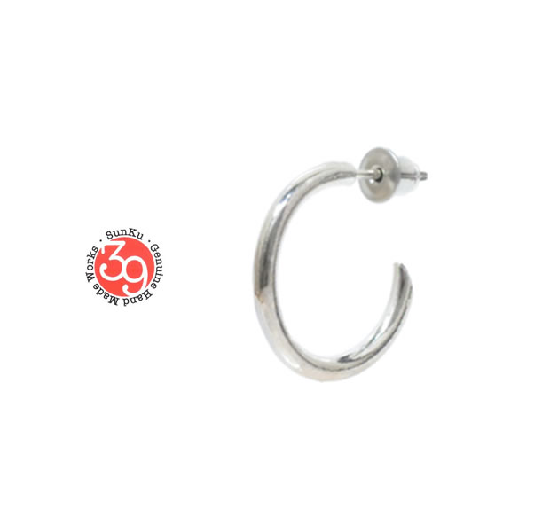 Sunku SK-210-BAR Silver large hoop pierce