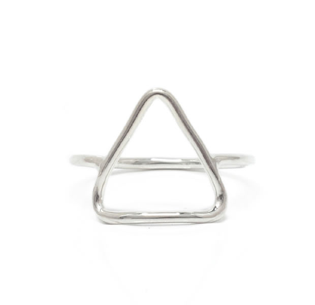 "UNKNOWN. U518 "" THIN TRIANGLE "" RING / SILVER"