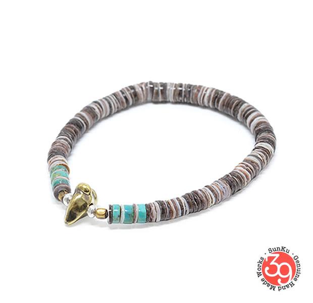 Sunku SK-055-PPL Heishi Shell Bracelet