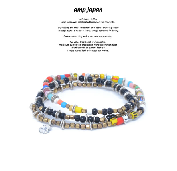 amp japan HYHK-412 Triple Part Long Beads -Mix-