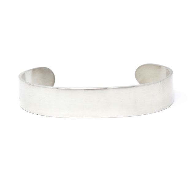 20/80 AB008 STERLING SILVER ID BANGLE 13mm width