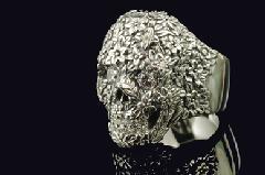 Justin Davis srj550 Floral Skull Ring