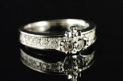 Justin Davis srj036D Chelsea Band Ring w/Diamond