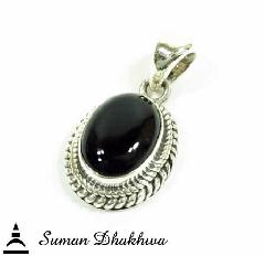 "Suman Dhakhwa SD-P137ONX "" Valhalla Collection "" Twisted Onyx Pendant"