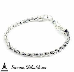"Suman Dhakhwa SD-B60 "" Valhalla Collection "" Twist Chain Bracelet"