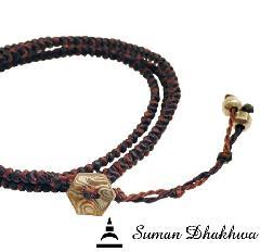 Suman Dhakhwa SD-B51BB Octagon Code Bracelet w/ Bead