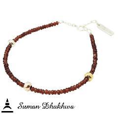 Suman Dhakhwa SD-B39 Garnet Beads Bracelet